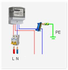 Простейшая электрическая схема ввода в дом 220в