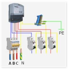 Простейшая электрическая схема ввода в дом 380в